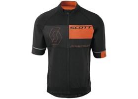 scott-dres-rc-premium-flex-wp-kratki-rukavi-black-tangerine-orange