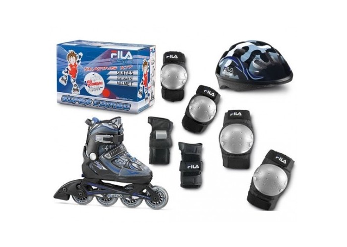 roleri-fila-deciji-x-one-set-3-1-podesivi-black-blue